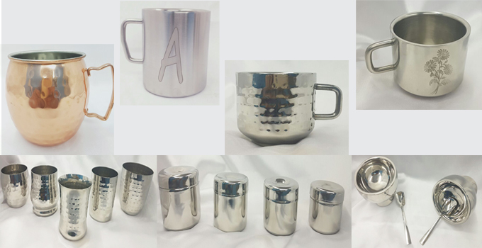Mugs, Cups and Containers